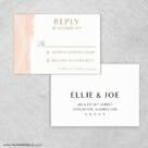 Quartz Rsvp Card And Envelope