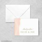 Quartz Thank You Card And Envelope