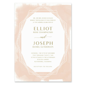 Quartz Wedding Invitation