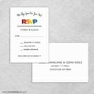 Rainbow Love Rsvp Card And Envelope