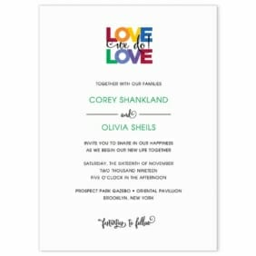 Rainbow Love Wedding Invitation