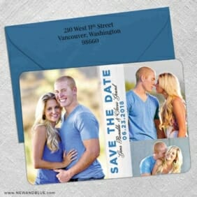 Relish The Moment 5 Save The Date With Optional Color Envelope