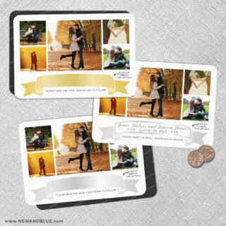 Ribbon Romance V2 2 Scratch Off Save The Date Fridge Magnet