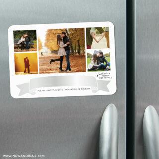 Ribbon Romance V2 3 Scratch Off Refrigerator Save The Date Magnets