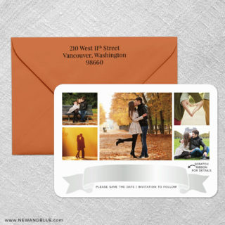Ribbon Romance V2 4 Scratch Off Save The Date With Optional Color Envelope