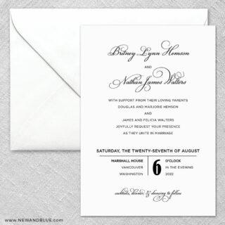 Rivershore 2 Invitation And Envelope