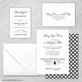 Rivershore 5 Wedding Invitation And Rsvp Card