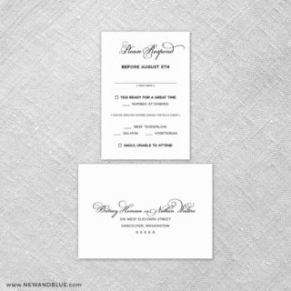 Rivershore 6 Reception Card And Rsvp Card