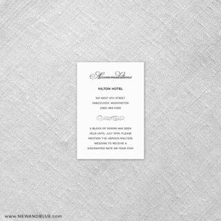 Rivershore 7 Reception Card