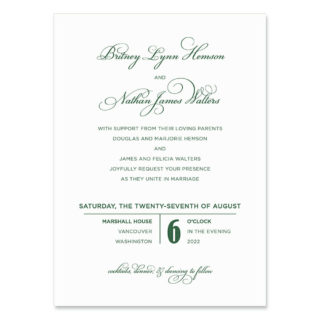 Rivershore Wedding Invitation