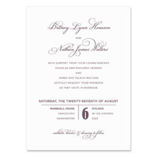 Rivershore Wedding Invitation