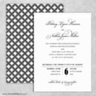 Rivershore Wedding Invitation With Back Printing