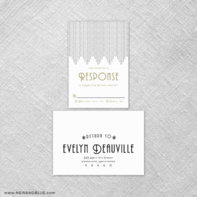 Rockefeller 6 Reception Card And Rsvp Card