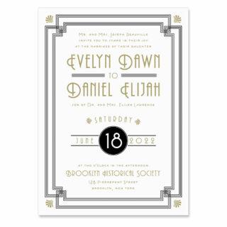 Rockefeller Wedding Invitation