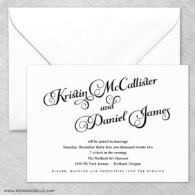 Romance 2 Invitation And Envelope