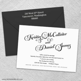 Romance 3 Invitation And Color Envelope