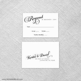 Romance 6 Reception Card And Rsvp Card