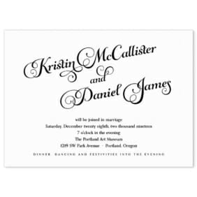 Romance Wedding Invitation