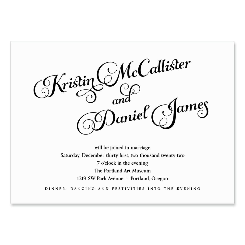 Romance Wedding Invitation