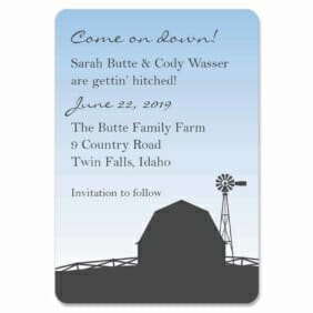 Rustic Barn 1 Save The Date Magnets