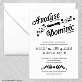 Saint Helens 2 Invitation And Envelope