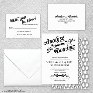 Saint Helens 5 Wedding Invitation And Rsvp Card