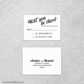 Saint Helens 6 Reception Card And Rsvp Card