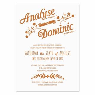 Saint Helens Wedding Invitation