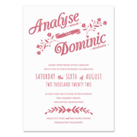 Saint Helens Wedding Invitation