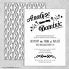 Saint Helens Wedding Invitation With Back Printing
