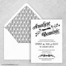 Saint Helens Wedding Invitation With Envelope Liner