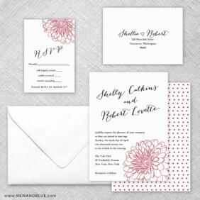 Savannah 5 Wedding Invitation And Rsvp Card