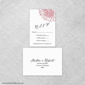 Savannah 6 Reception Card And Rsvp Card