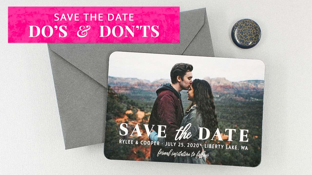 Save the Date Do's & Don'ts