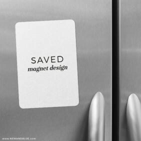 Saved Magnet Design 2 Save The Date Refrigerator Magnet