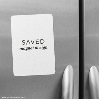 Saved Magnet Design 2 Save The Date Refrigerator Magnet