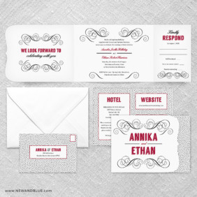 Scarlette All In One Wedding Invitation Suite