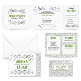 Scarlette All Inclusive Wedding Invitation