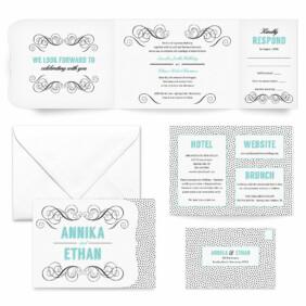 Scarlette All Inclusive Wedding Invitation
