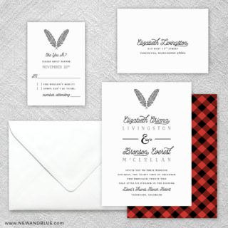 Scout 5 Wedding Invitation And Rsvp Card