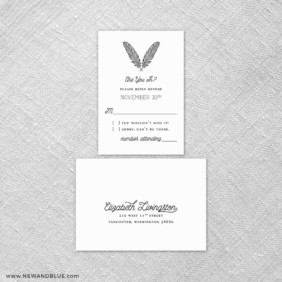 Scout 6 Reception Card And Rsvp Card