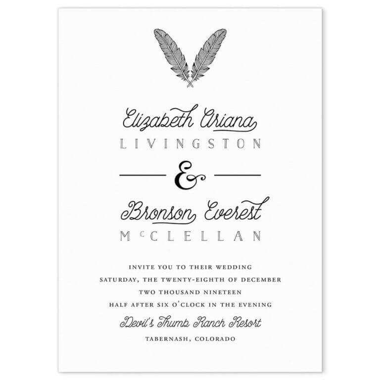 Scout Wedding Invitation