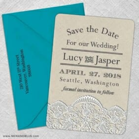 Seattle 5 Save The Date With Optional Color Envelope