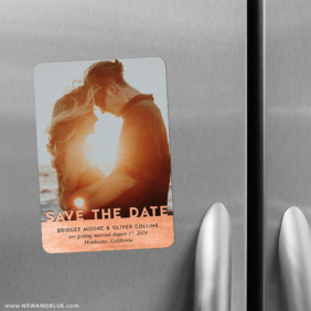 Shine On 2 Save The Date Refrigerator Magnet