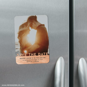 Shine On 4 Refrigerator Save The Date Magnets