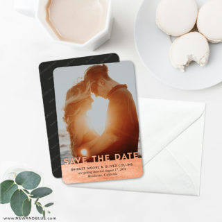 Shine On 6 Wedding Save The Date Magnets With Envelope