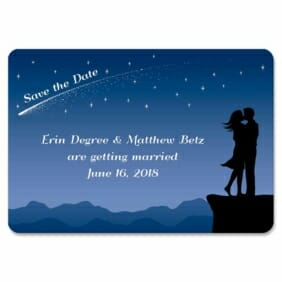 Shooting Star 1 Save The Date Magnets