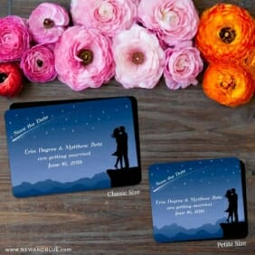 Shooting Star 2 Save The Date Magnet Classic And Petite Size