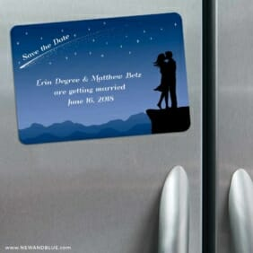 Shooting Star 3 Refrigerator Save The Date Magnets