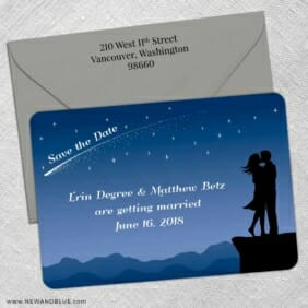 Shooting Star 5 Save The Date With Optional Color Envelope